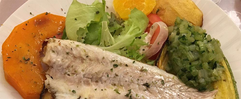 Piatto leggero di pesce